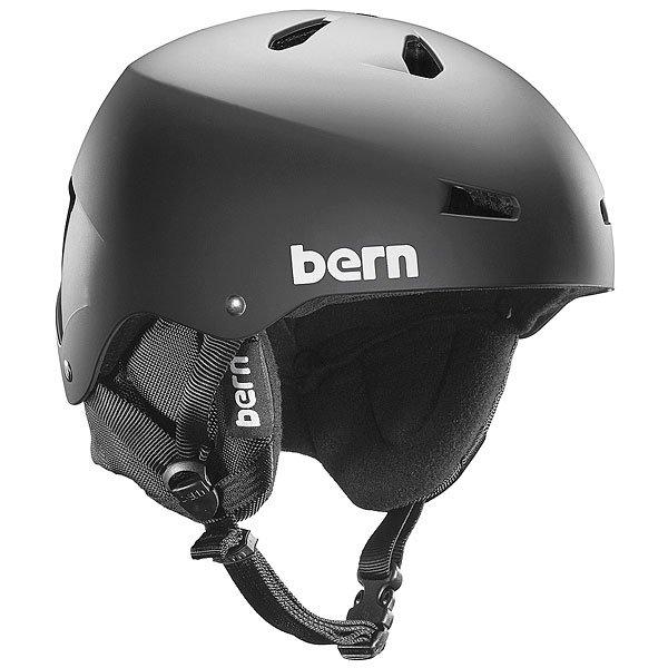 Шлем для скейтборда Bern Snow Eps Macon Eps Matte Black/Black Liner
