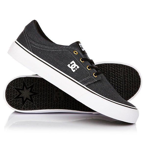 Кеды кроссовки низкие DC Trase Tx Se Black/Grey