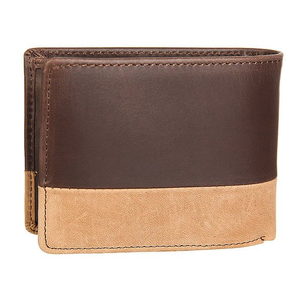 Кошелек Quiksilver New Classical I Choc/Cognac Leather