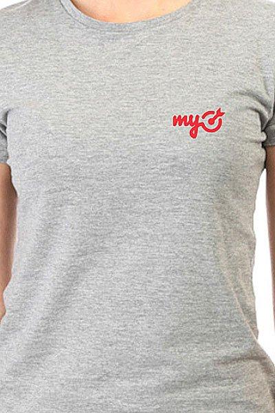 Футболка женская классическая MyTarget Logo Серая