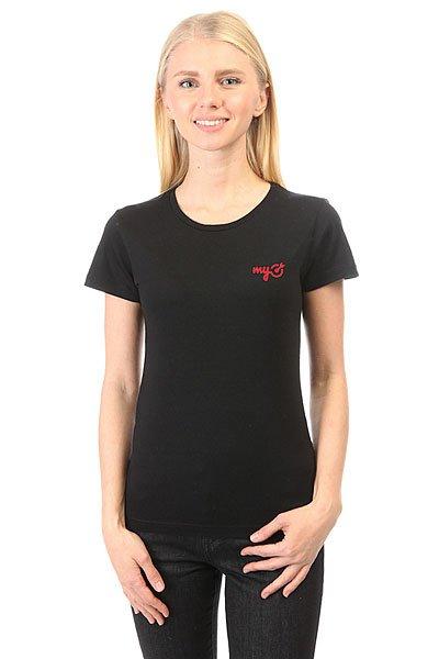Футболка женская классическая MyTarget Logo Черная