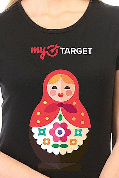 Футболка женская классическая MyTarget Logo Matreshka Черная