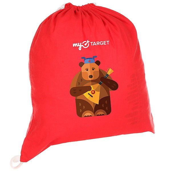 Мешок MyTarget Canvas Logo Medved Красный