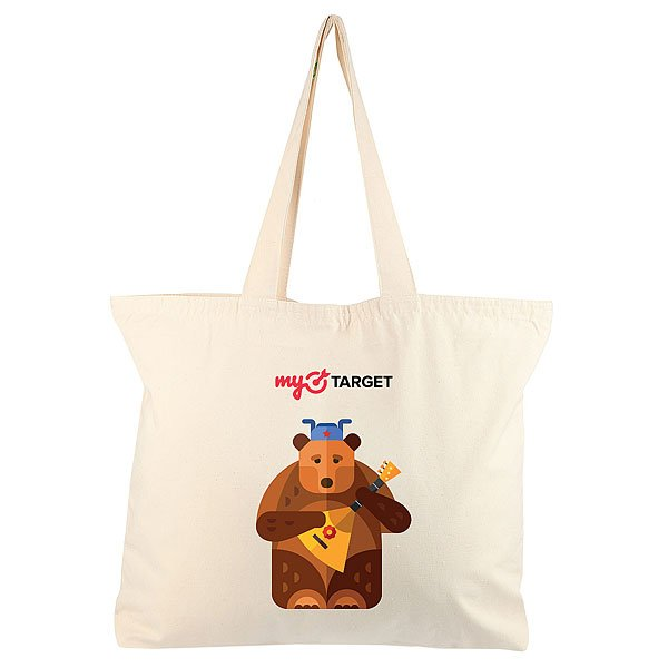 Холщовая сумка большая MyTarget Logo Medved Неокрашенная
