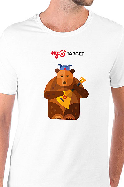 Футболка Wearcraft Premium Slim Fit MyTarget Logo Medved Белая