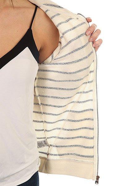 Толстовка классическая женская Roxy Signature Strip Marshmallow Signatur