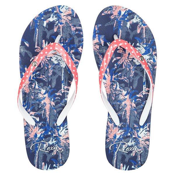 Вьетнамки женский Roxy Portofino White/Pink/Blue