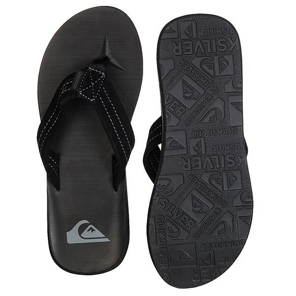 Вьетнамки Quiksilver Carver Suede Solid Black