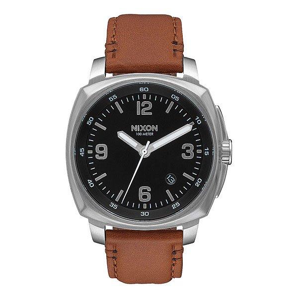 Кварцевые часы Nixon Charger Leather Black/Saddle