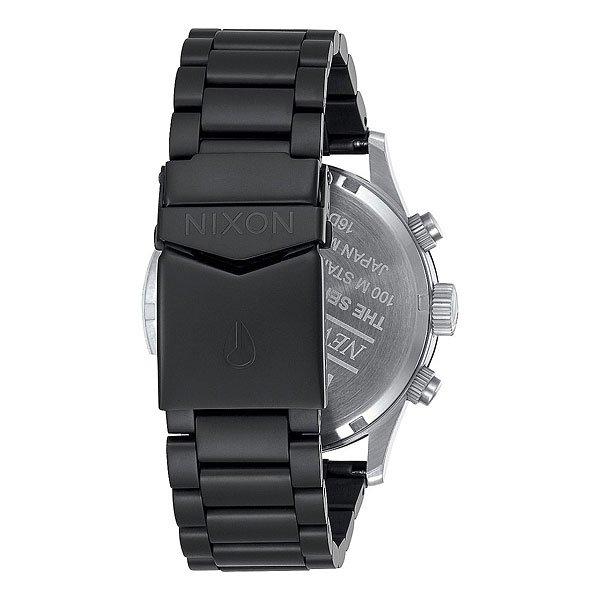 Кварцевые часы Nixon Sentry Chrono Black/Surplus