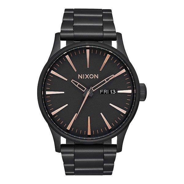 Кварцевые часы Nixon Sentry Black/Rose Gold