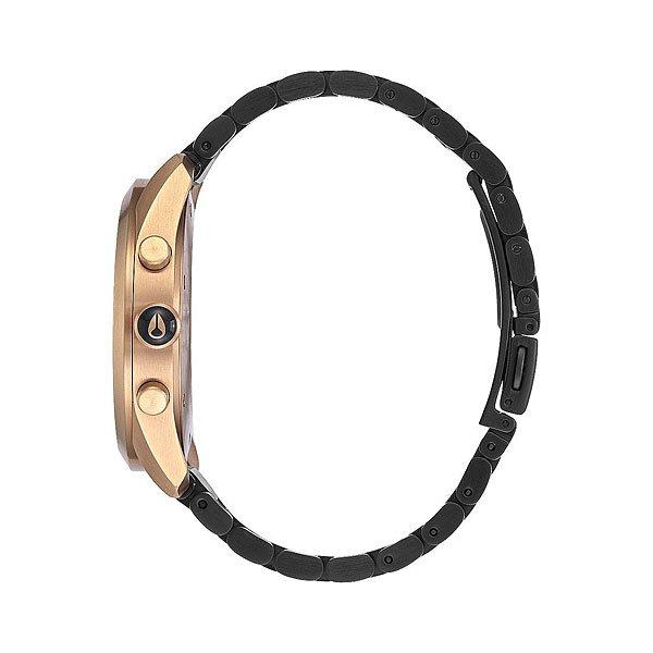 Кварцевые часы женские Nixon Bullet Chrono Crystal Black Crystal/Rose Gold