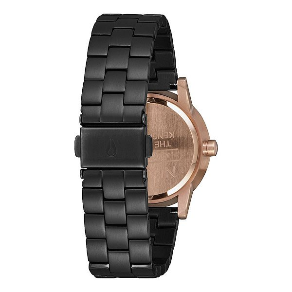 Кварцевые часы женские Nixon Small Kensington Black/Rose/Black