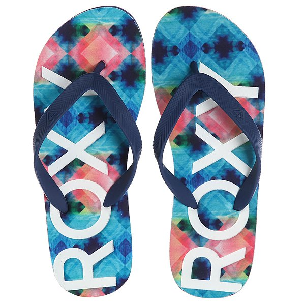 Вьетнамки Roxy Playa Blue/White Print