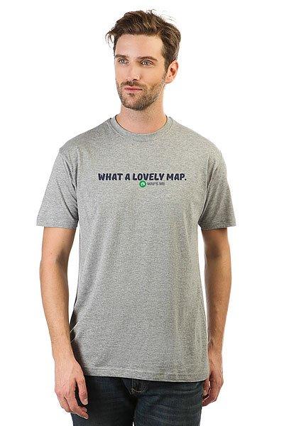 Футболка классическая Maps.me What A Lovey Map Серая