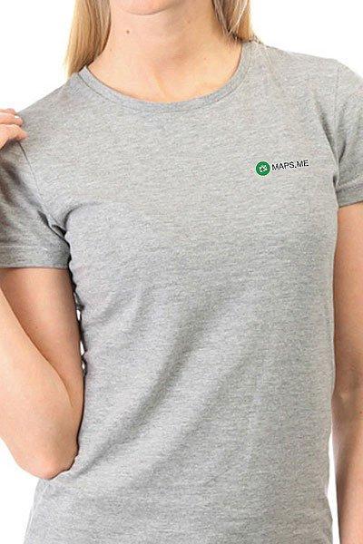 Футболка женская классическая Maps.me Logo Серая