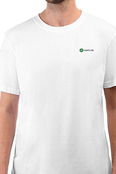 Футболка классическая Maps.me Logo Белая
