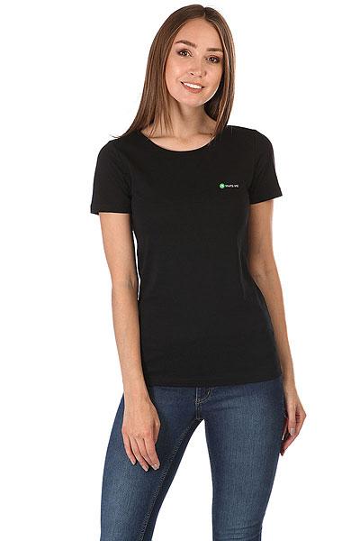 Футболка женская Wearcraft Premium Maps.me Logo Черная