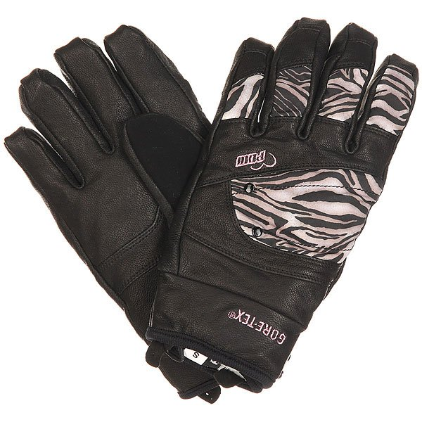 Перчатки сноубордические женские Pow Empress Gtx Glove Zebra