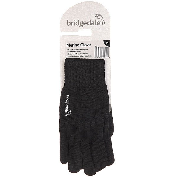 Перчатки Bridgedale Merino Glove Black