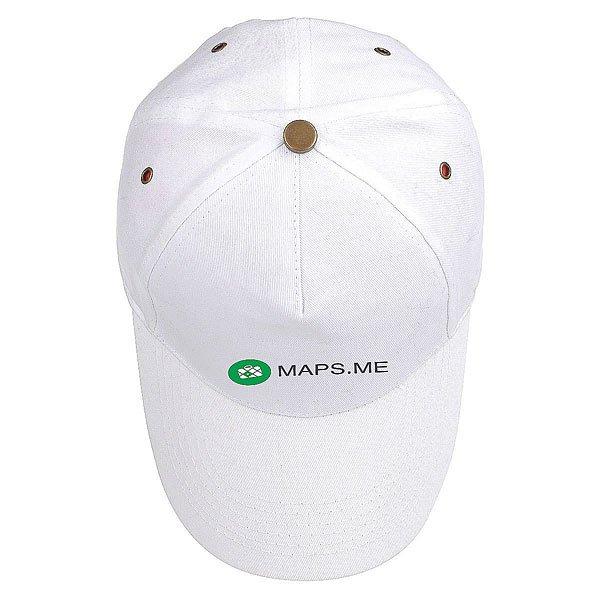 Бейсболка Классическая Maps.me New York Logo Белая