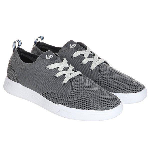 Кеды низкие Quiksilver Shorbrkstreknit Grey/White