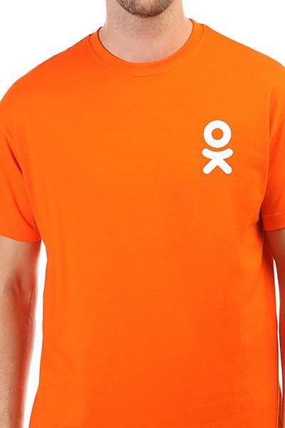 Футболка классическая Одноклассники Logo Оранжевая