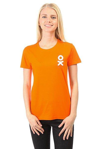 Футболка женская классическая Одноклассники Logo Оранжевая