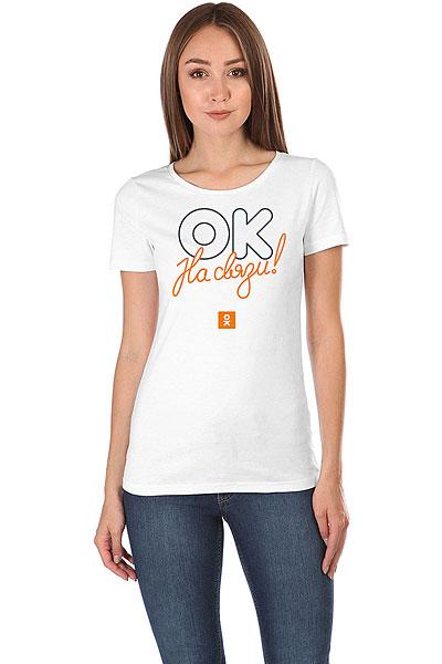 Футболка женская Wearcraft Premium Одноклассники Logo Белая