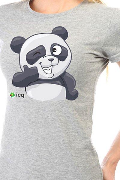 Футболка женская классическая ICQ Okpanda Серая