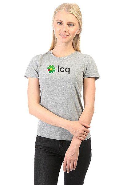 Футболка женская классическая ICQ Logo Logo Серая