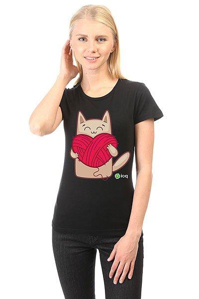 Футболка женская классическая ICQ Lovecat Черная