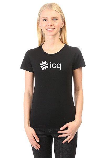 Футболка женская классическая ICQ Logo Черная