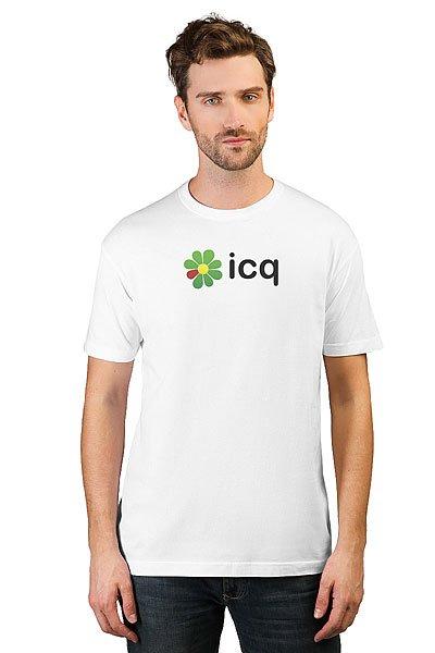 Футболка классическая ICQ Logo Белая
