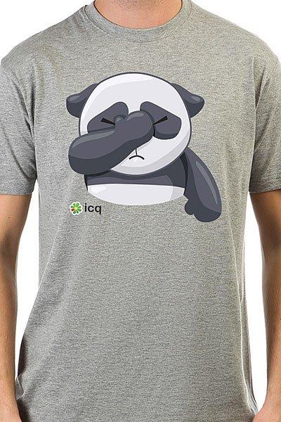 Футболка классическая ICQ Facepalmpanda Серая