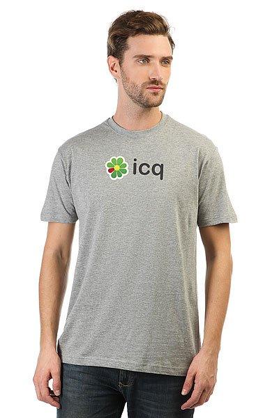 Футболка классическая ICQ Logo Серая