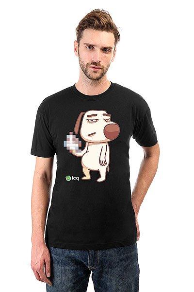 Футболка классическая ICQ Fckdog Черная