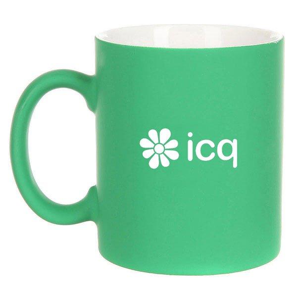 Кружка ICQ Logo Зеленая