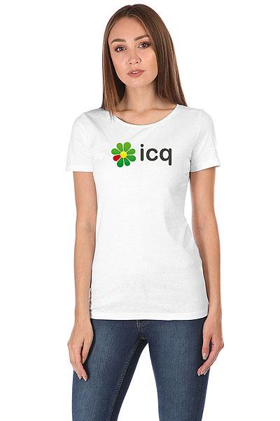 Футболка женская Wearcraft Premium ICQ Logo Белая