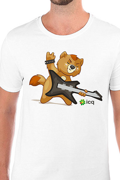 Футболка Wearcraft Premium Slim Fit ICQ Rokenot Белая