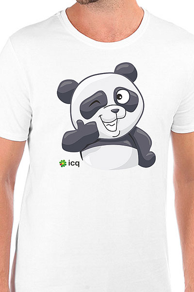 Футболка Wearcraft Premium Slim Fit ICQ Okpanda Белая