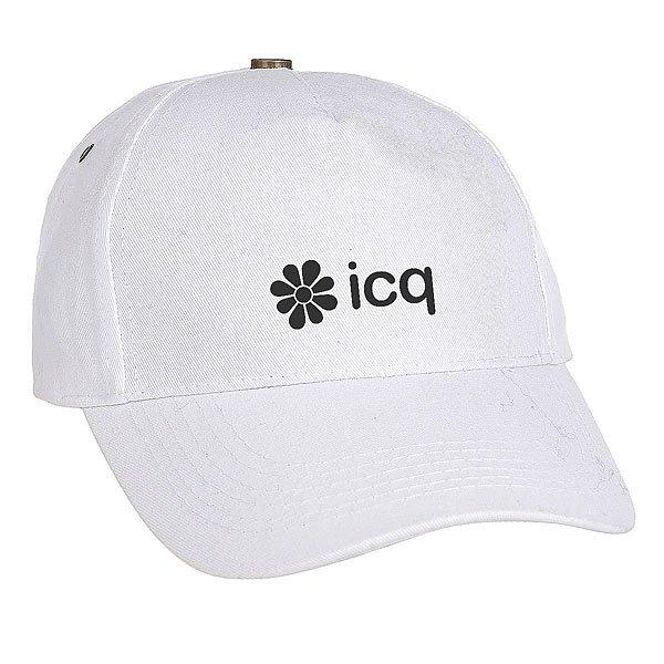 Бейсболка классическая ICQ New York Logo Белая