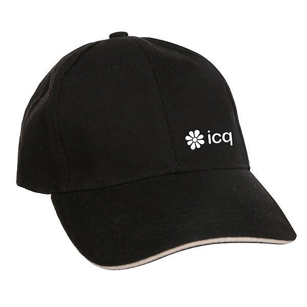 Бейсболка Классическая ICQ Challenge Logo Черный/Натуральный