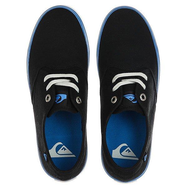 Кеды низкие детские Quiksilver Shorebreak Black Blue Grey