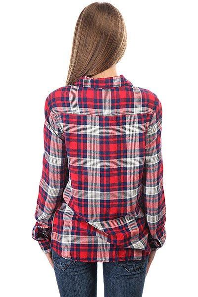 Рубашка в клетку женская Roxy Plaidonyou Hibiscus Pinetree