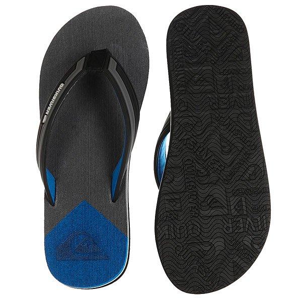 Вьетнамки Quiksilver Molokai New Wav Black/Grey/Blue