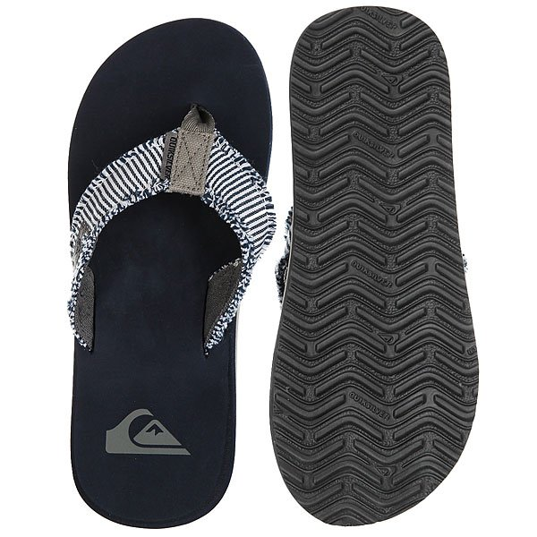 Вьетнамки Quiksilver Monkey Abyss Grey/Blue
