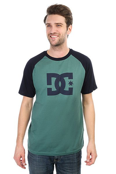 Футболка DC Star Raglan Sea Pine/Dark Indigo