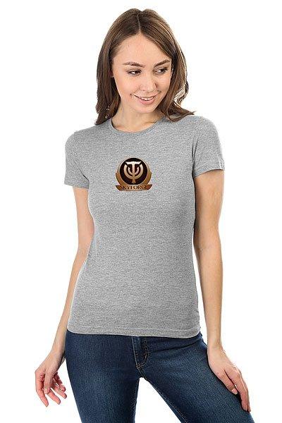 Футболка женская классическая Skyforge Logo Серый Меланж