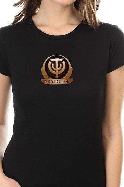 Футболка женская классическая Skyforge Logo Черная